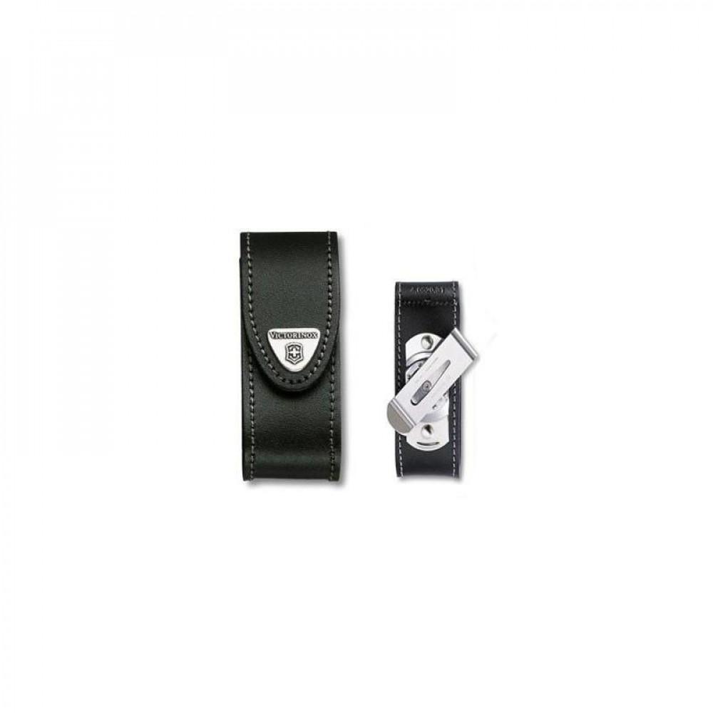 Etui cuir Victorinox 91mm 6 à 14 P clip 4.0520.31