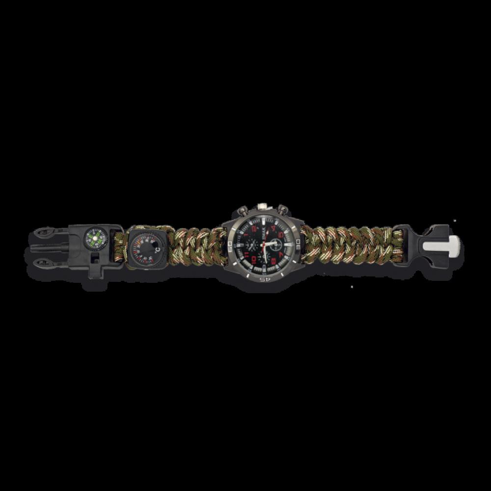 Montre paracorde tactique de survie camouflage