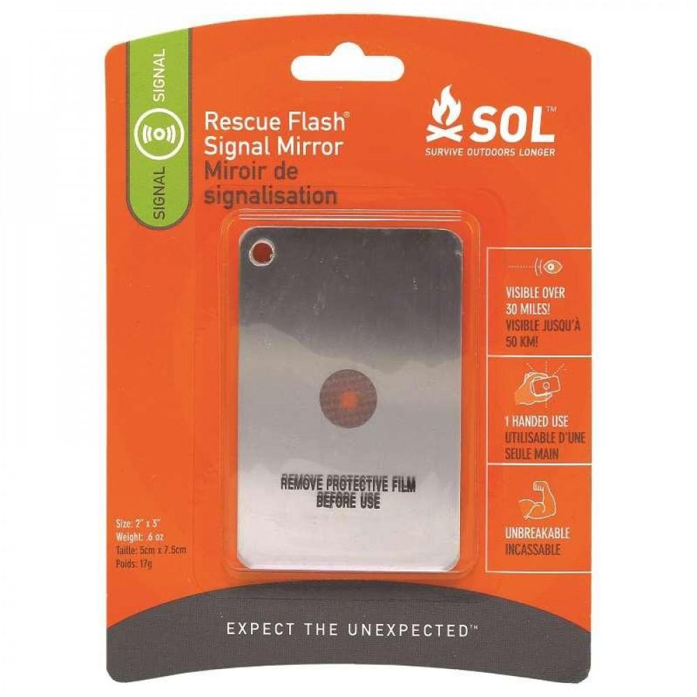 Miroir de signalisation SOL Rescue Flash Signal Mirror