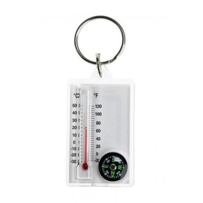 CAO Thermomètre boussole porte-clés