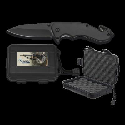 Couteau tactique pliant noir lame 8.5