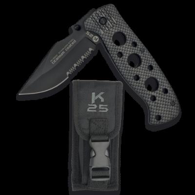 Couteau pliable K25 avec manche alvéolé lame 8,5 cm