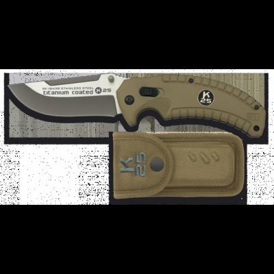Couteau K25 SFL Coyote avec revêtement en titane