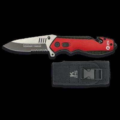 Couteau pliable rouge et noir lame 8.4 cm