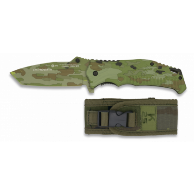 Couteau CHINOOK II Camo Army lame 9 cm