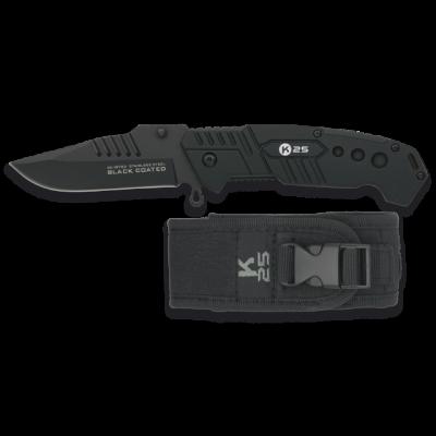 Couteau K25 Black Coated lame 8.5 cm