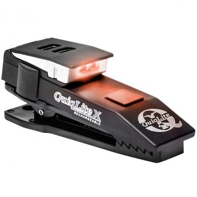 Lampe mains-libres rechargeable QuiqLiteX blanc/rouge LED