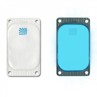 Marqueur rectangulaire Visipad® - 10 heures bleu