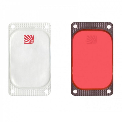 Marqueur rectangulaire Visipad® - 10 heures rouge