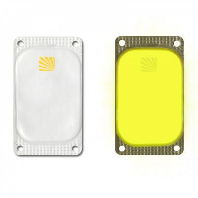 Marqueur rectangulaire Visipad® - 10 heures jaune