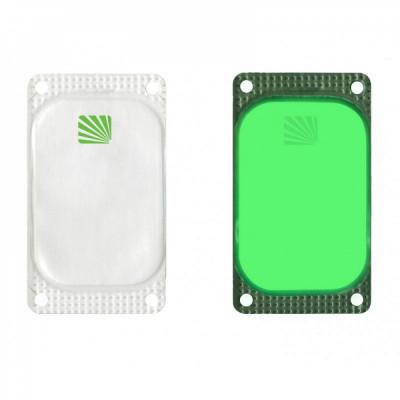 Marqueur rectangulaire Visipad® - 10 heures vert
