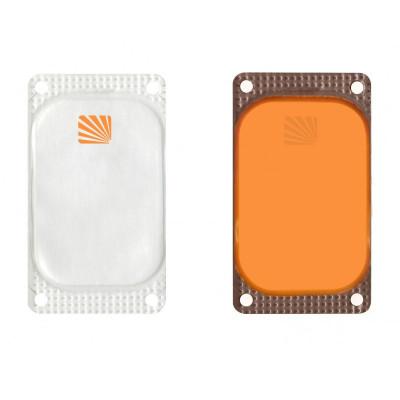 Marqueur rectangulaire Visipad® - 10 heures orange