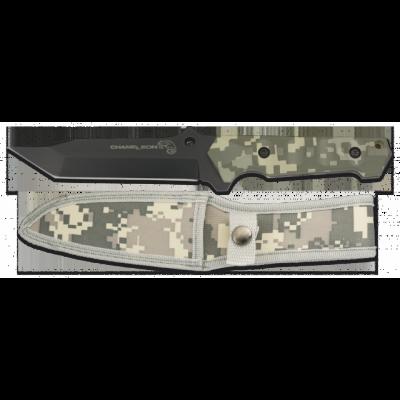 Poignard de survie camouflage lame 13.9 cm