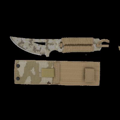 Couteau paracorde camouflage coyote 19 cm