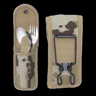 Set de couverts de camping avec couteau multi-fonctions