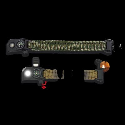 Bracelet paracorde avec led camouflage