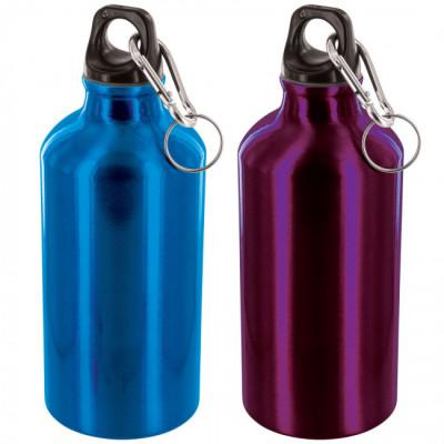 Pack de 2 bouteilles en aluminium de 500 ml bleu et violet
