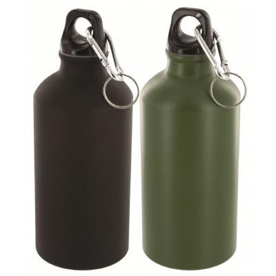 Pack de 2 bouteilles en aluminium de 500 ml noir et vert