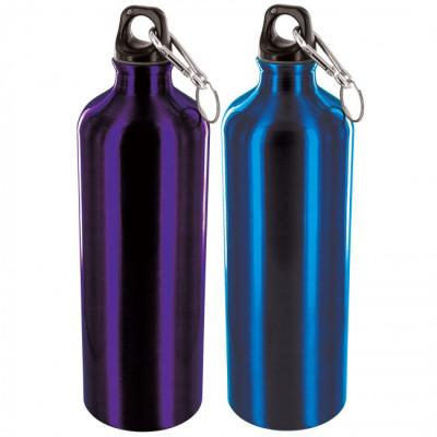 Pack de 2 bouteilles en aluminium de 1L bleu et violet