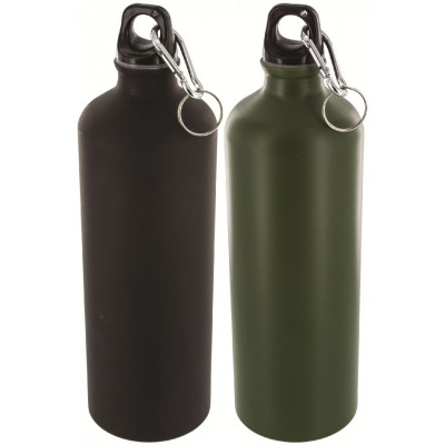 Pack de 2 bouteilles en aluminium de 1L noir et vert