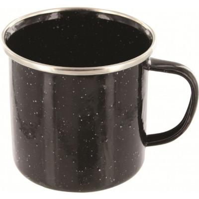 Tasse mug de luxe en émail noir