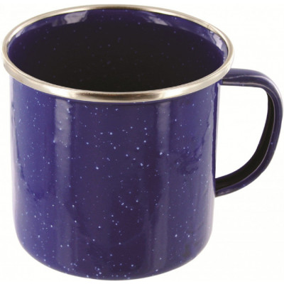 Tasse mug de luxe en émail bleu