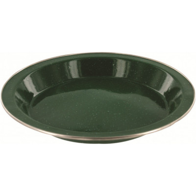 Assiette plate de luxe en émail vert