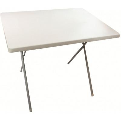 Table pliante d'extérieur blanche