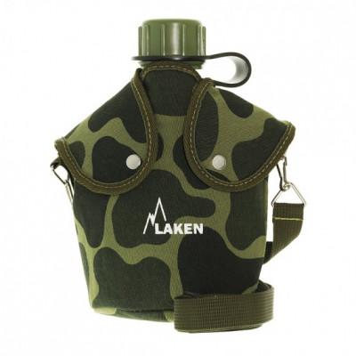 Gourde Laken 1 litre en polyéthylène avec housse camouflage
